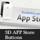 3D APP Store Buttons - GraphicRiver Item for Sale