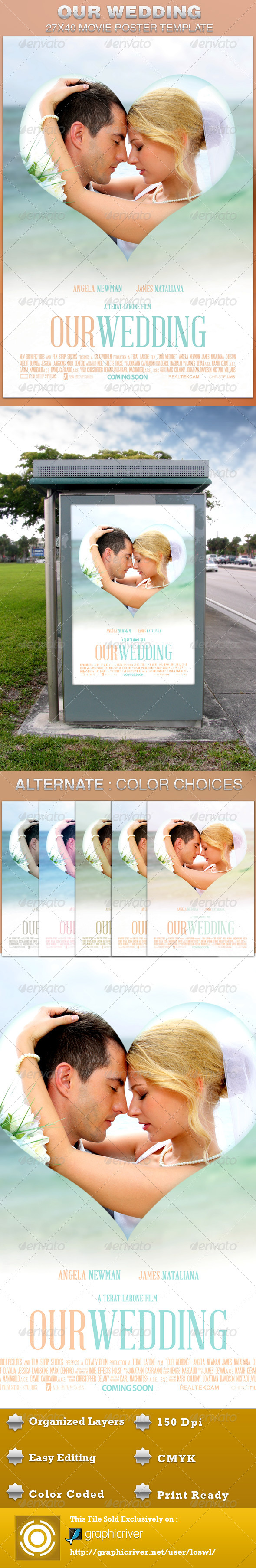 Our Wedding Movie Poster Template - Events Flyers