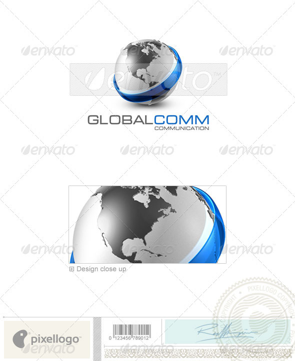 Communications Logo - 3D-478 - 3d Abstract