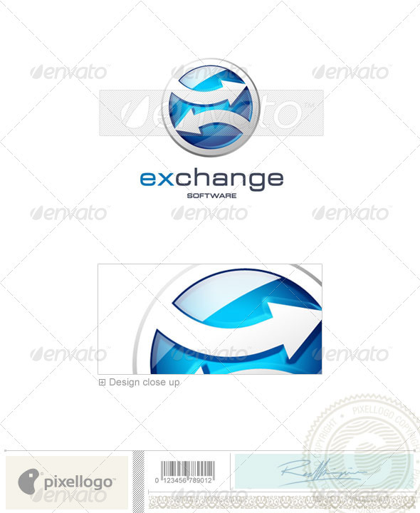 Technology Logo - 3D-125 - 3d Abstract