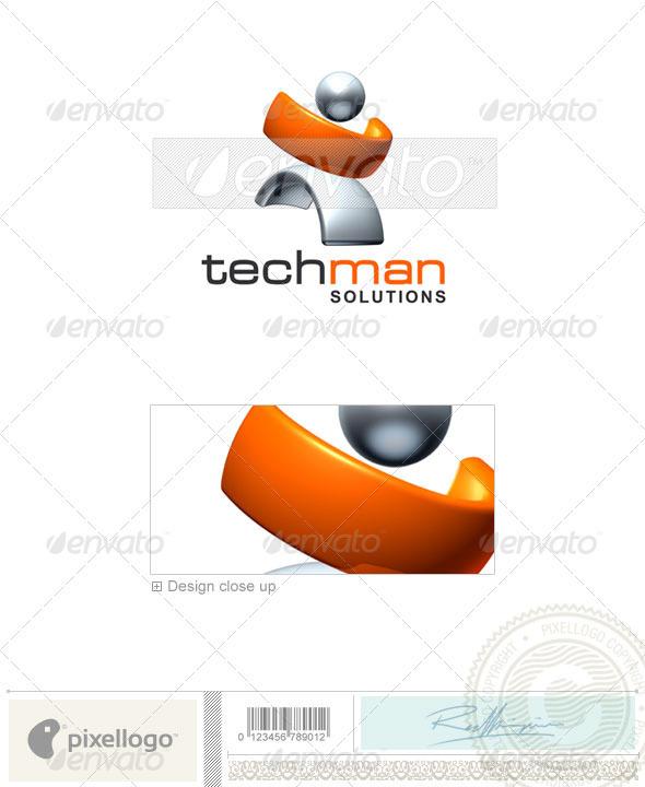 Technology Logo - 3D-386