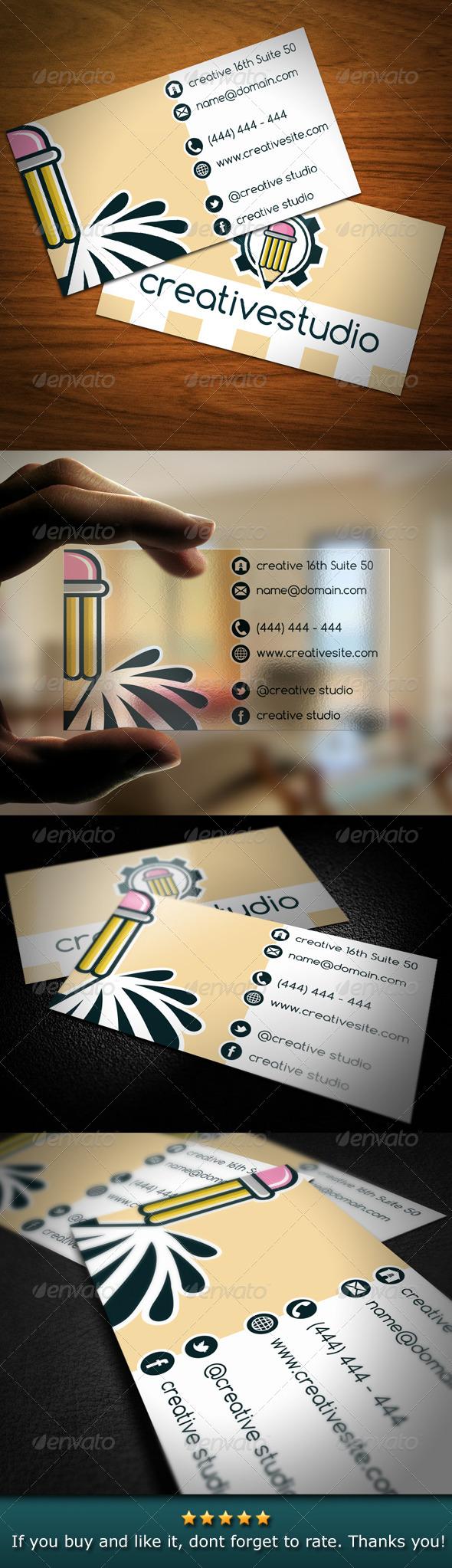 GraphicRiver Creative Studio Pencil Business Card 4765440