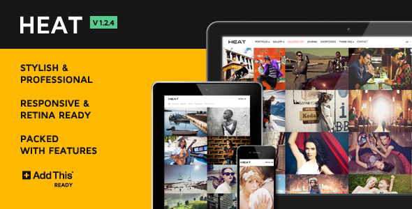 Heat Premium Portfolio WordPress Theme - Photography Creative
