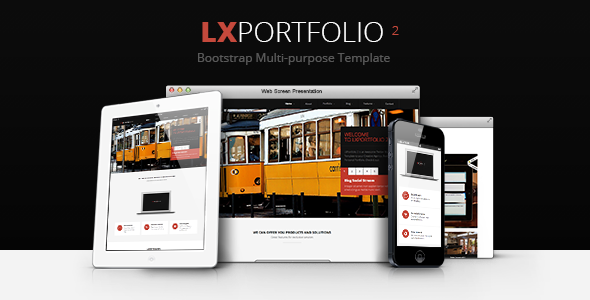 ThemeForest LXPortfolio 2 Responsive Multi-Purpose Template 4728289