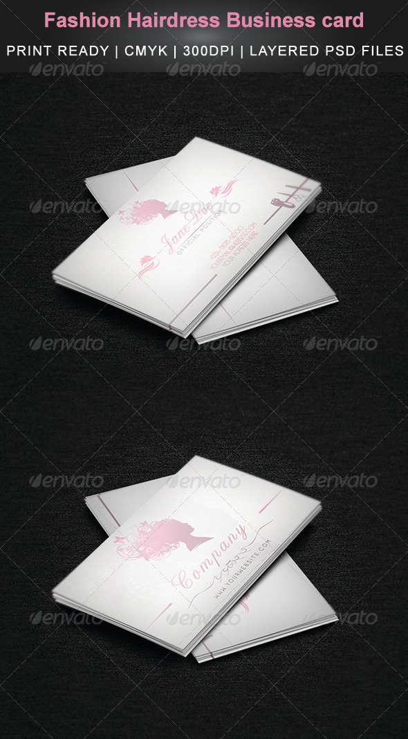 GraphicRiver Fashion Hairdress Business card 4632254