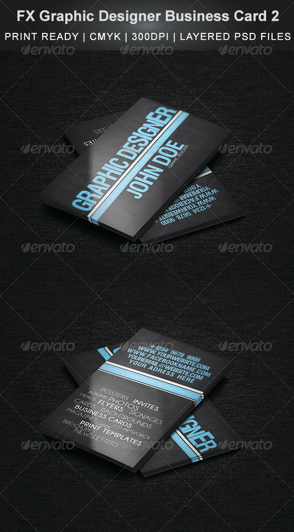 FX Graphic Designer Business Card 2 - Creative Business Cards