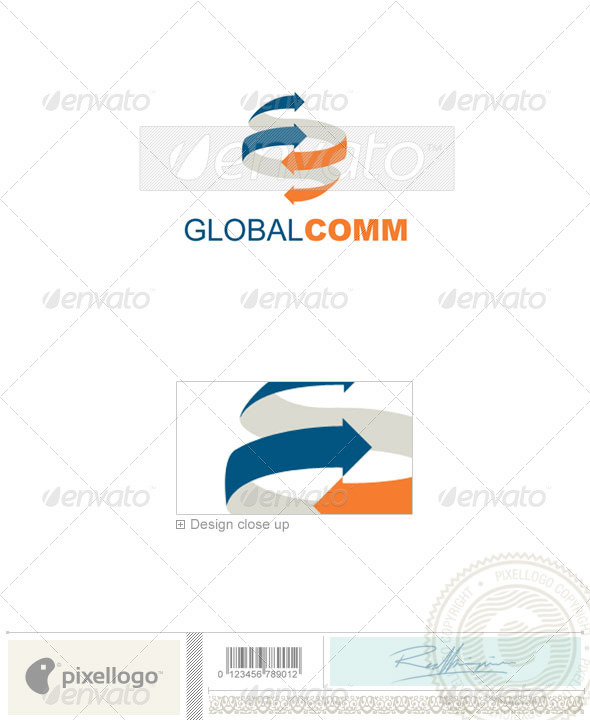 Communications Logo - 737 - Vector Abstract