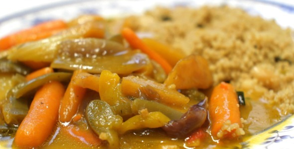 Indian Curry Vegetables with Couscous