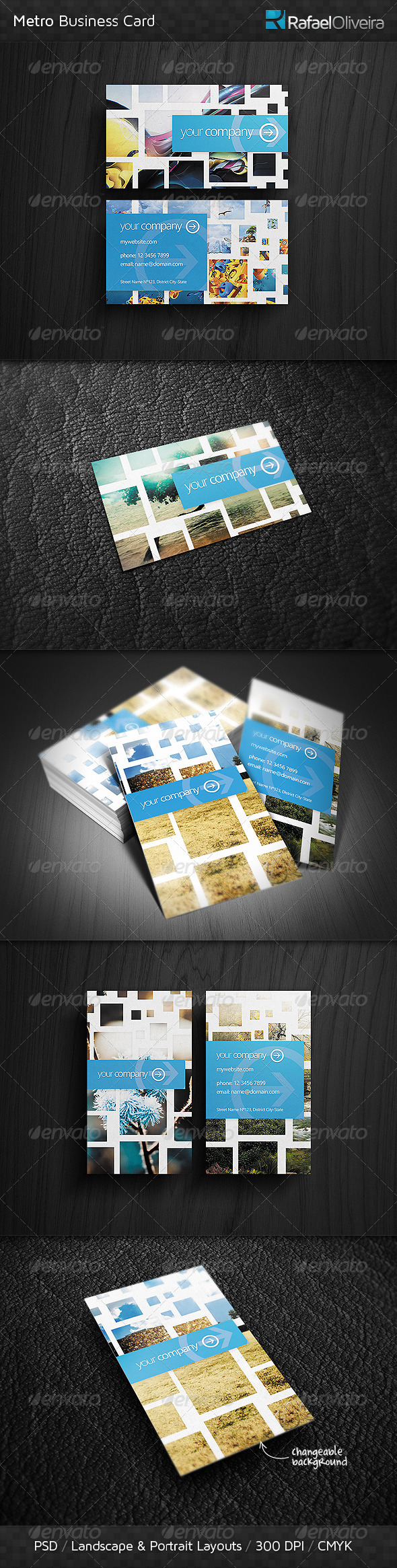 Metro Business Card - Creative Business Cards