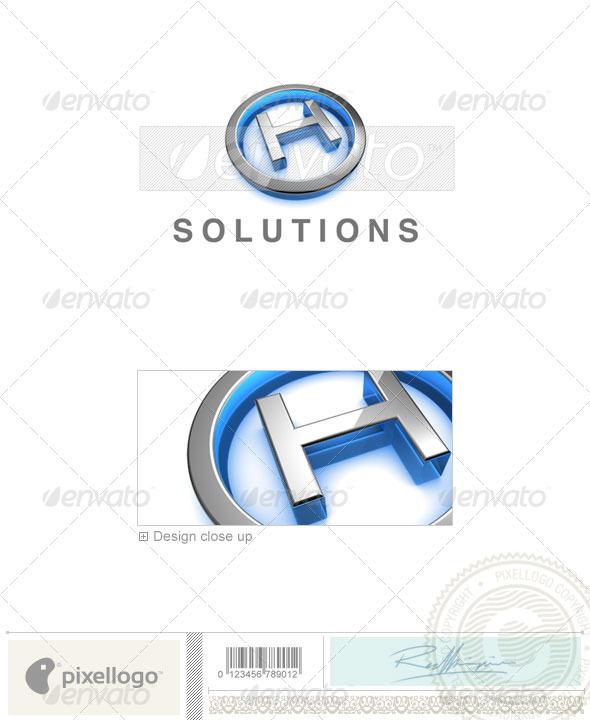 Logo - 3D-683-H ...H Logo 3d