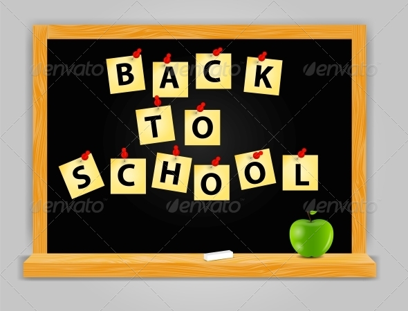 GraphicRiver Back to School Vector Background 4765631