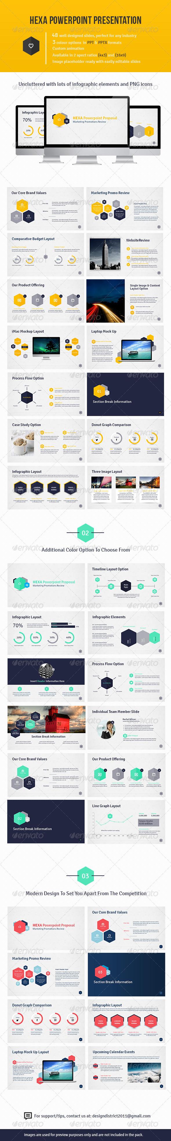 GraphicRiver Hexa Powerpoint Presentation 4765695
