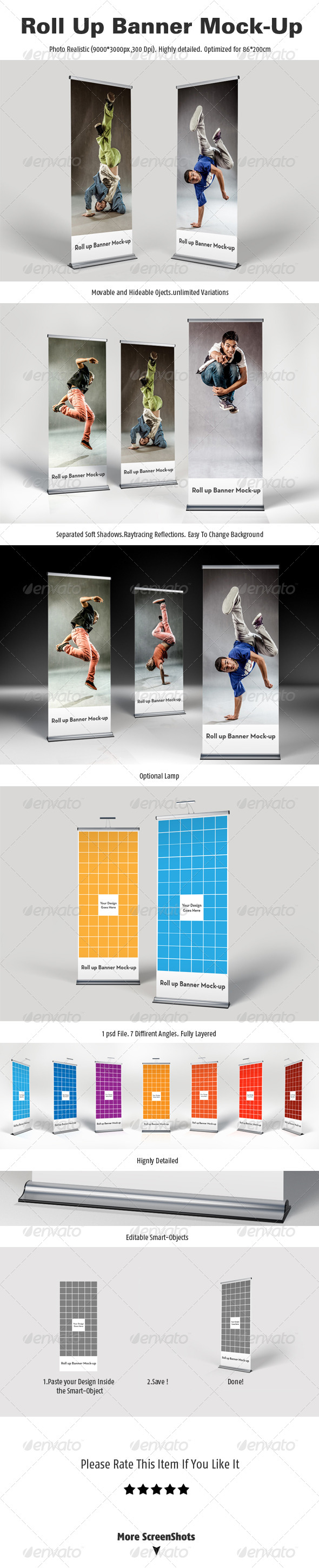 GraphicRiver Roll Up Banner Mock-Up 4765696