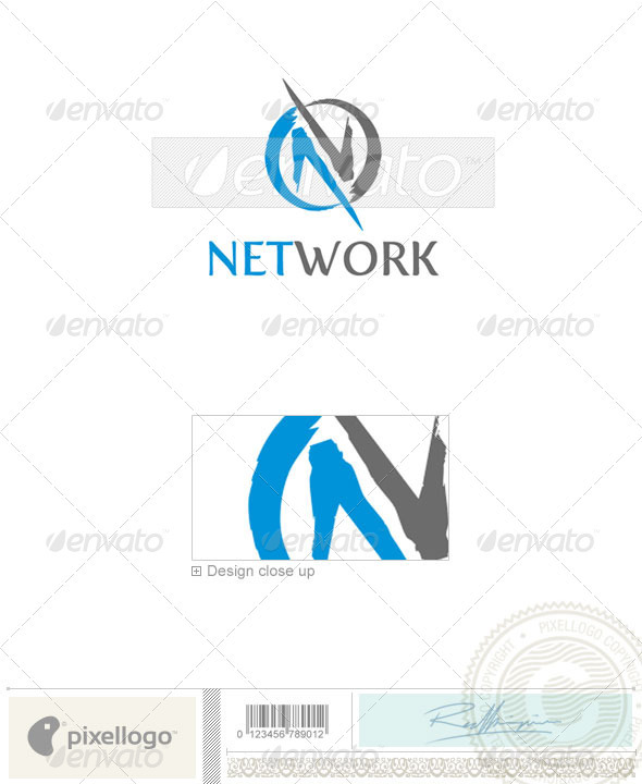 Communications Logo - 1863 - Vector Abstract