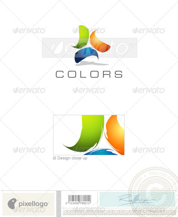 Print & Design Logo - 1636 - Vector Abstract