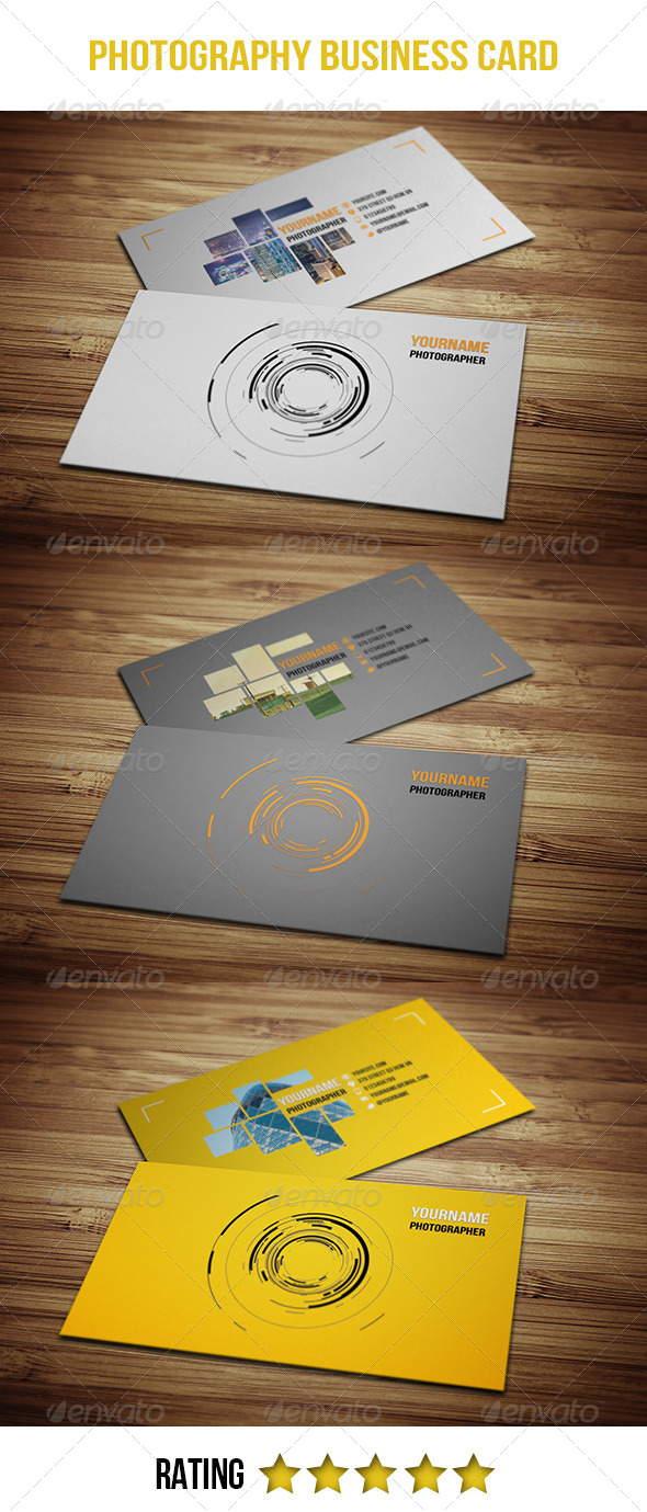 GraphicRiver Photography Business Card 4692980