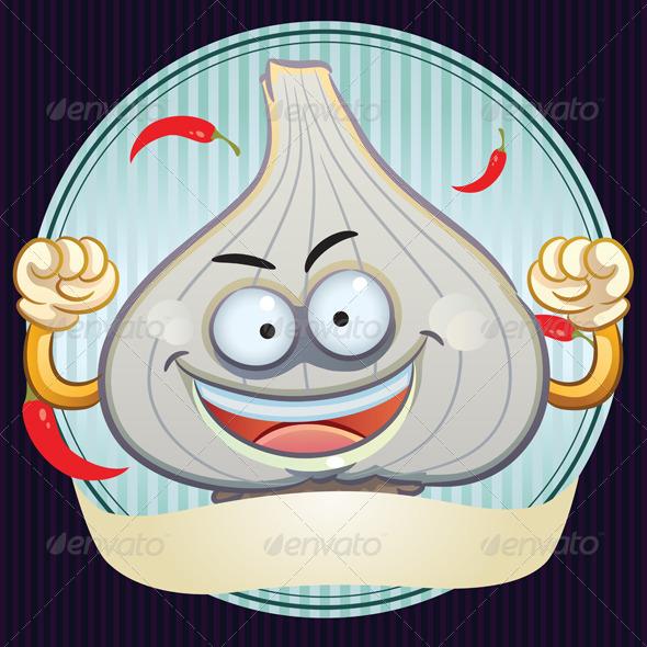 GraphicRiver Garlic Mascot 4765943