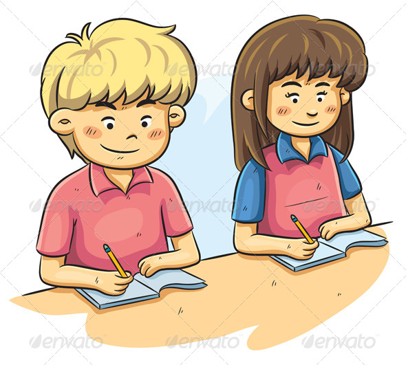 GraphicRiver Kids Studying 4765944