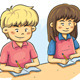 Kids Studying - GraphicRiver Item for Sale
