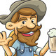 Old Man Drinking a Beer - GraphicRiver Item for Sale