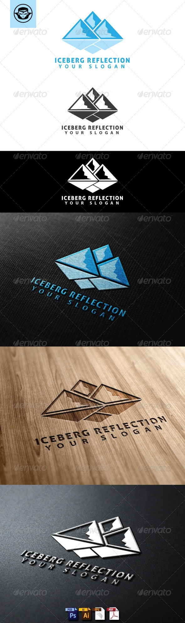 GraphicRiver Iceberg Reflection Logo Template 4765962