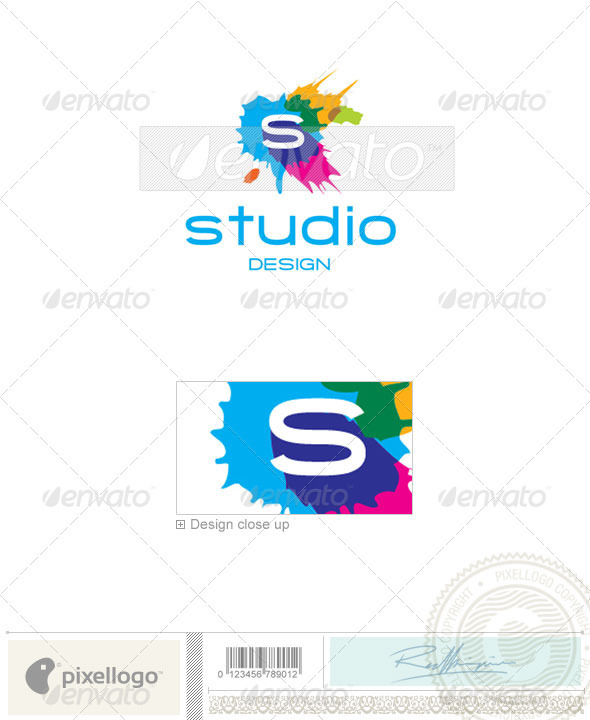 Print & Design Logo - 1952 - Vector Abstract