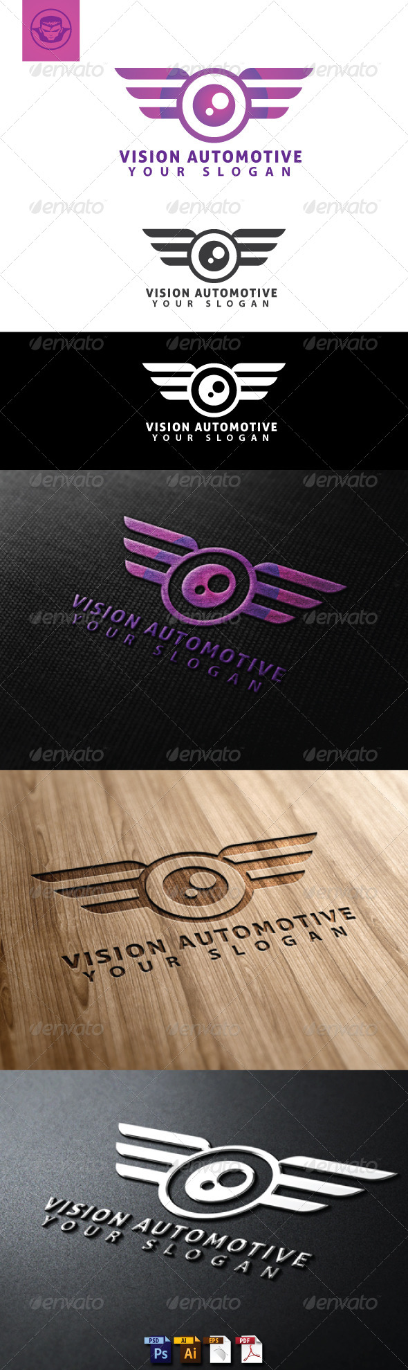 GraphicRiver Vision Automotive Logo Template 4765969