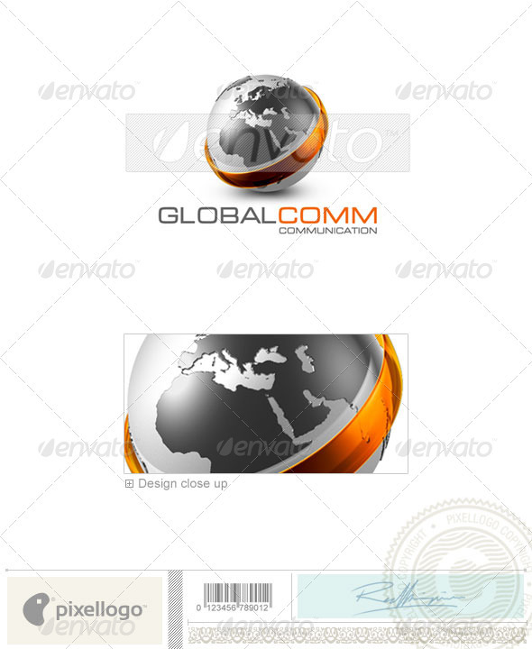 GraphicRiver Communications Logo 3D-479 497602