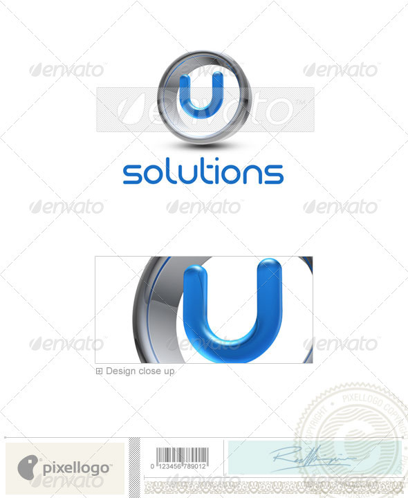 GraphicRiver U Logo 3D-288-U 497617
