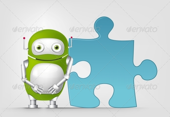 GraphicRiver Green Robot 4766127