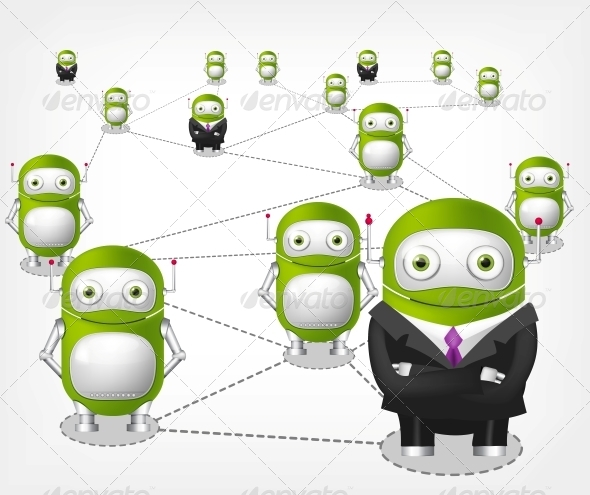 GraphicRiver Green Robot 4766167