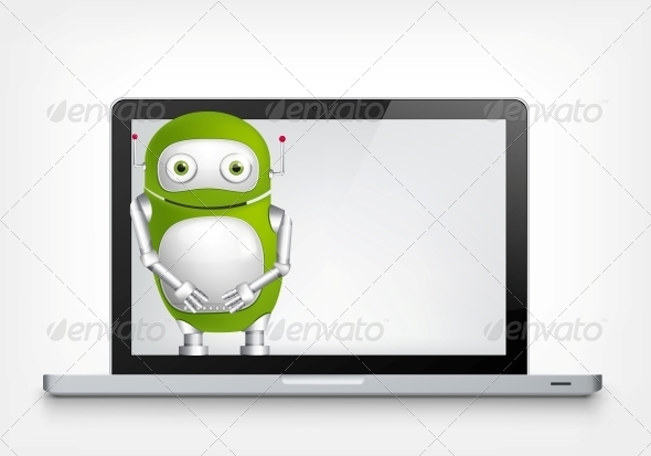 GraphicRiver Green Robot 4766188