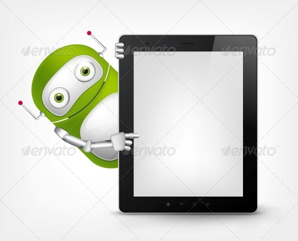 GraphicRiver Green Robot 4766226