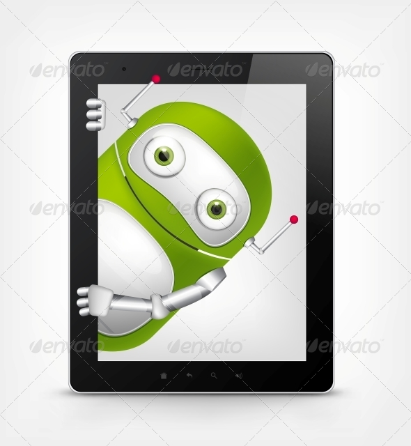 GraphicRiver Green Robot 4766229