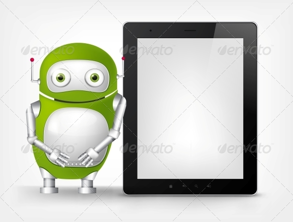 GraphicRiver Green Robot 4766230