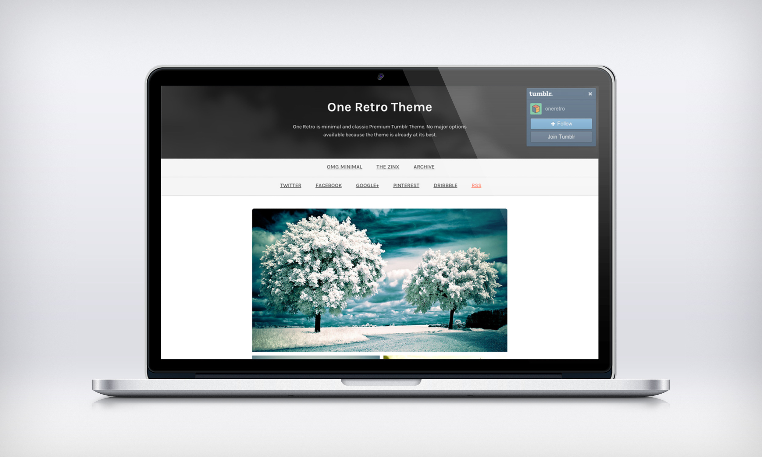 One Retro - Responsive and Minimal Theme
