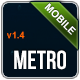 Metro Mobile Premium HTML Mobile Template - ThemeForest Item for Sale