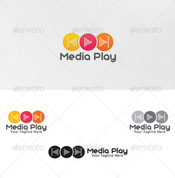 GraphicRiver Media Play Logo Template 4766568