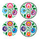 Ethnic Round Polish Embroidery with Flowers  - GraphicRiver Item for Sale