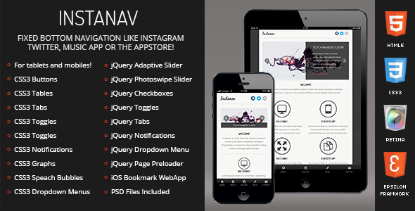 Instanav | Mobile & Tablet Responsive Template