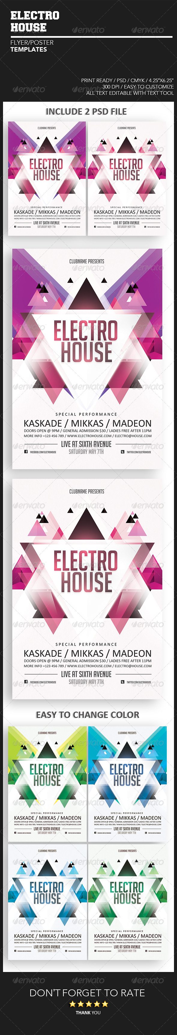 GraphicRiver Electro House Flyer 4766866