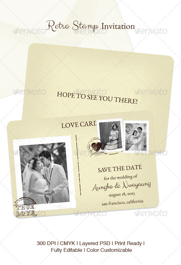 GraphicRiver Retro Stamp Invitation 4767197