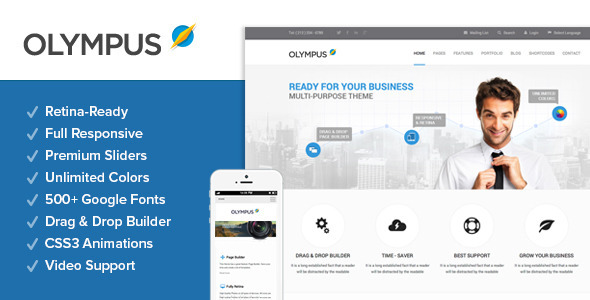 ThemeForest Olympus Responsive Multi-Purpose Wordpress Theme 4757265