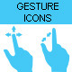 Touch Gesture Icons - GraphicRiver Item for Sale