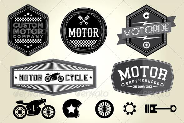 GraphicRiver Vintage Motor Badges 4768077