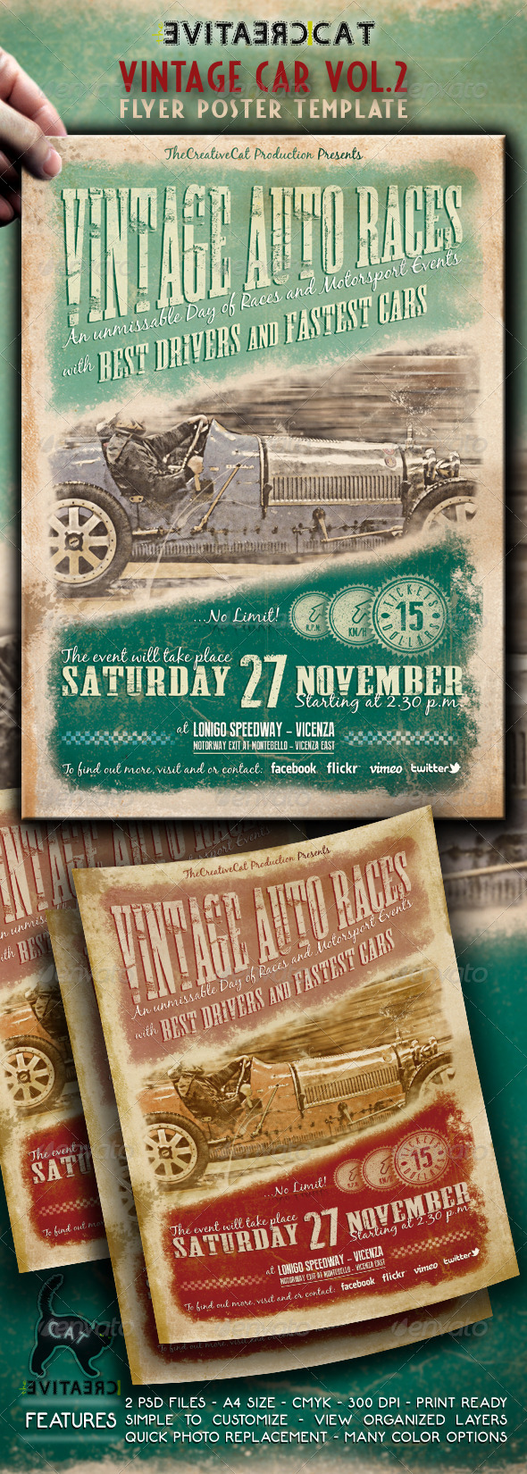 GraphicRiver VINTAGE CAR FLYER POSTER VOL.2 4768375