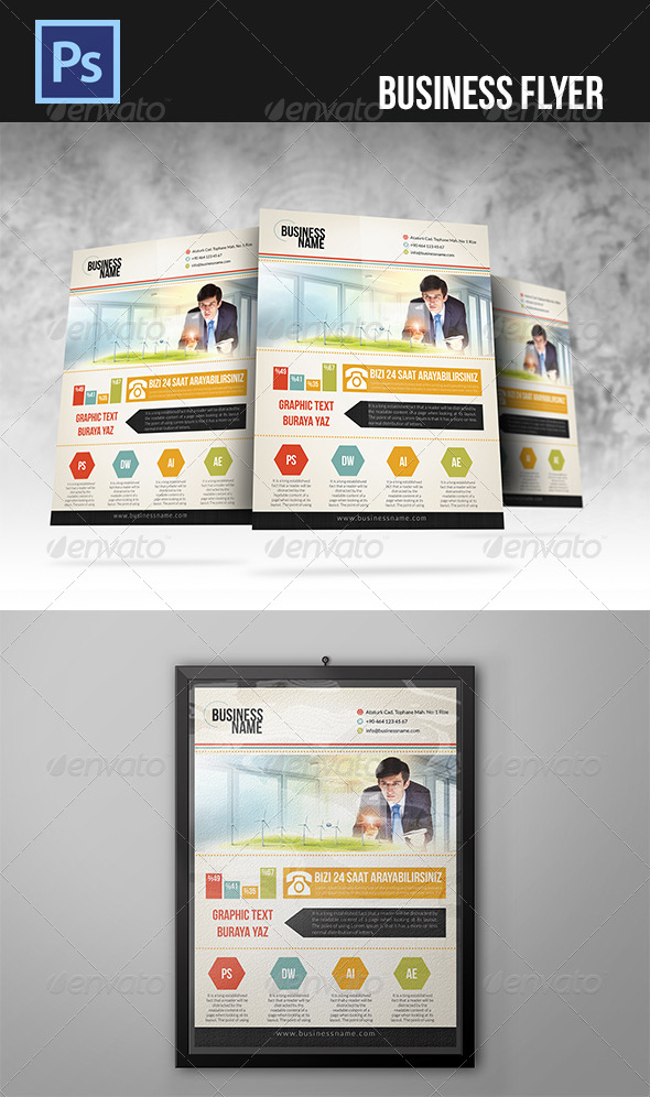 GraphicRiver Business Flyer 4697826