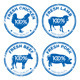 Set of Fresh Meat Stamps - GraphicRiver Item for Sale
