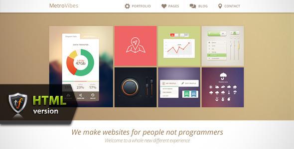 ThemeForest Metro Vibes Showcase HTML Theme 4768809