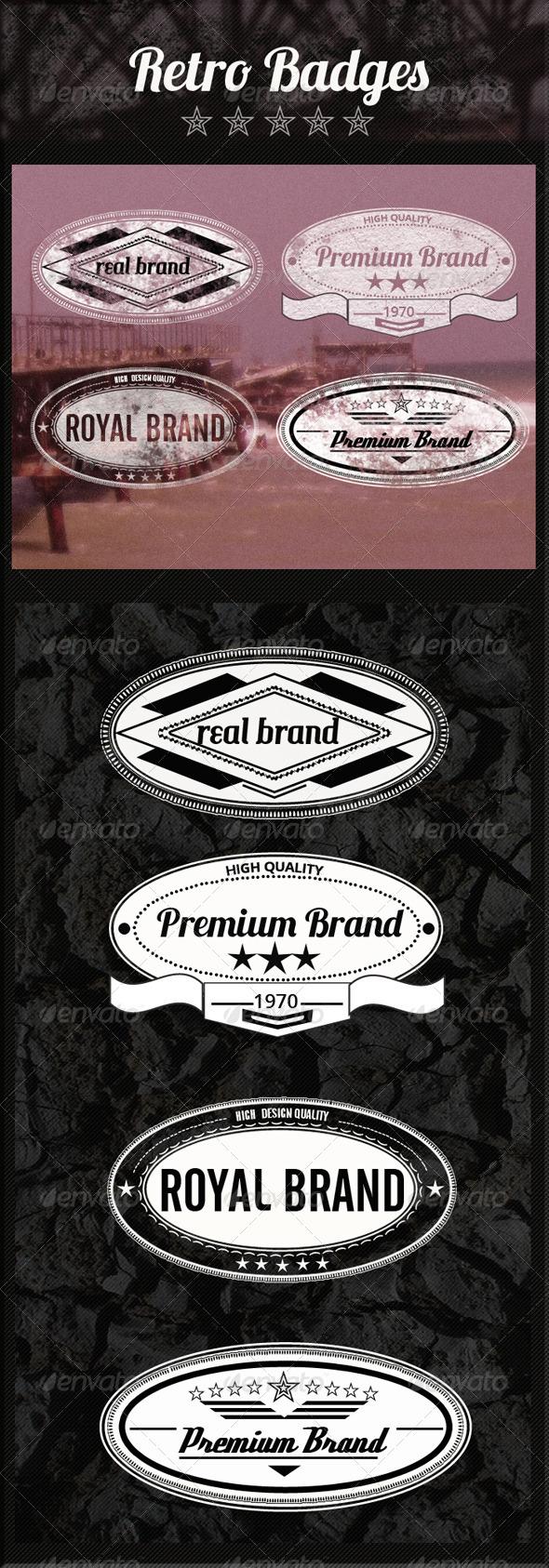 GraphicRiver Retro Premium Badges 4744444
